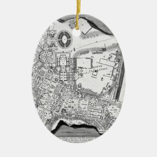 Giovanni Piranesi-Plan of the Baths of Diocletian Christmas Ornament