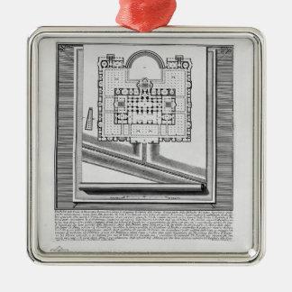 Giovanni Piranesi-Plan of the Baths of Diocletian Christmas Tree Ornament