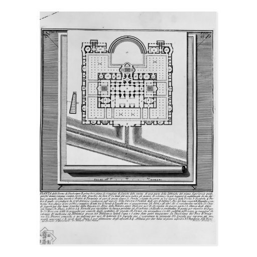 Giovanni Piranesi-Plan of the Baths of Diocletian Post Cards