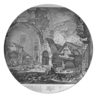 Giovanni Piranesi-Plan of the burial chambers Party Plate