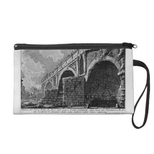Giovanni Piranesi-Ponte Rotto Wristlet Clutches