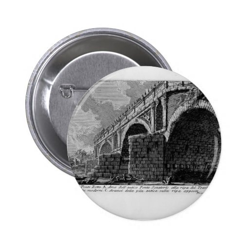 Giovanni Piranesi-Ponte Rotto Buttons
