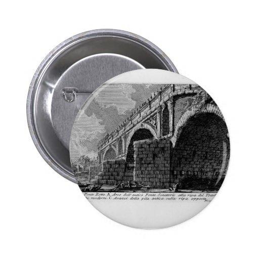 Giovanni Piranesi-Ponte Rotto Pinback Buttons