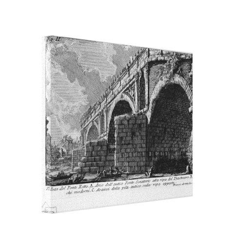 Giovanni Piranesi-Ponte Rotto Stretched Canvas Prints