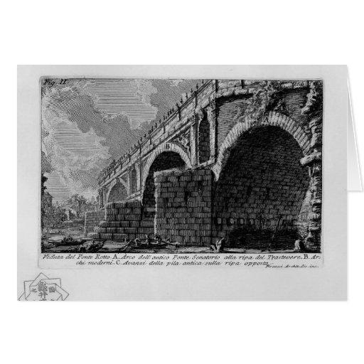 Giovanni Piranesi-Ponte Rotto Card