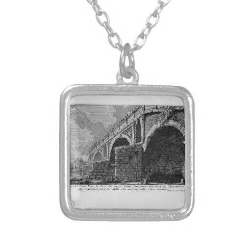 Giovanni Piranesi-Ponte Rotto Personalized Necklace