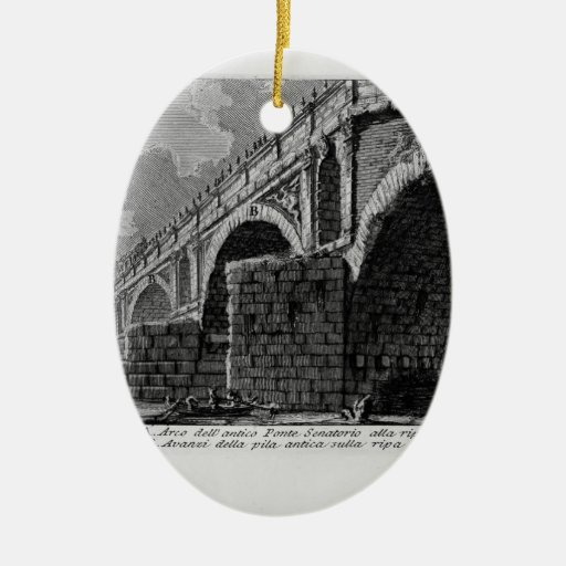 Giovanni Piranesi-Ponte Rotto Christmas Ornaments