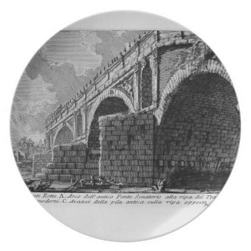 Giovanni Piranesi-Ponte Rotto Party Plates