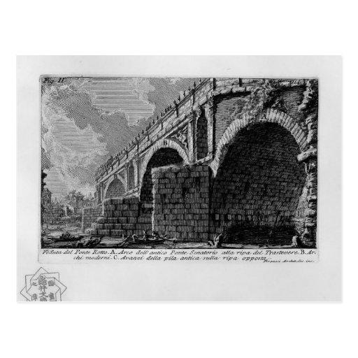 Giovanni Piranesi-Ponte Rotto Postcard