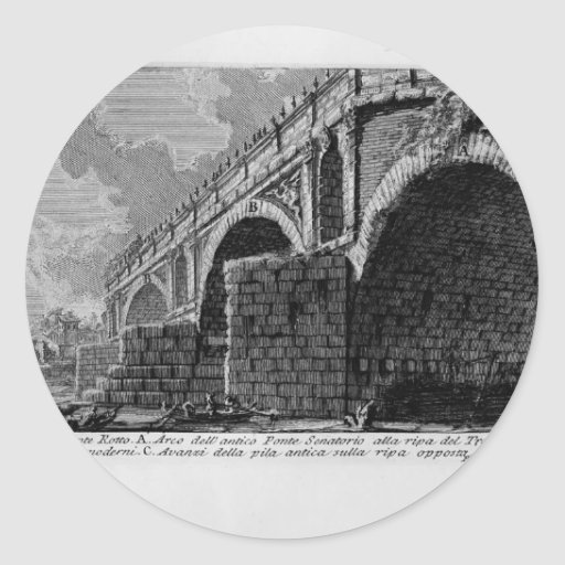 Giovanni Piranesi-Ponte Rotto Sticker