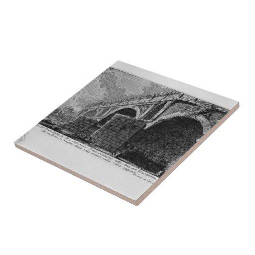 Giovanni Piranesi-Ponte Rotto Ceramic Tiles
