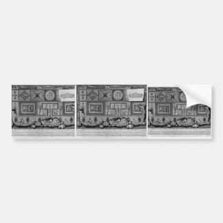 Giovanni Piranesi- Prospectus and Profile of tomb Car Bumper Sticker