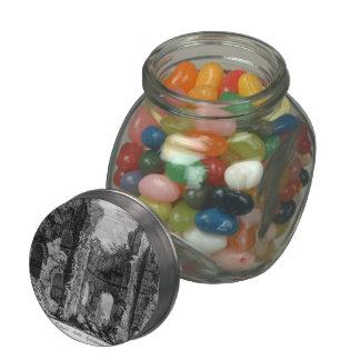 Giovanni Piranesi- Ruins of Tempio della Vecchia Glass Candy Jars