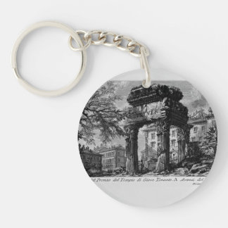 Giovanni Piranesi- Ruins of the pronaos of temple Keychain