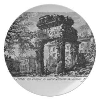 Giovanni Piranesi- Ruins of the pronaos of temple Dinner Plates
