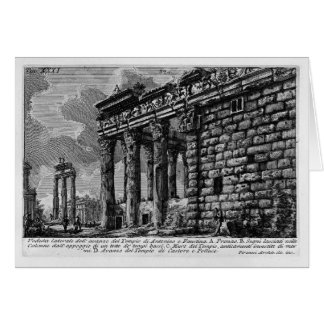 Giovanni Piranesi- Temple of Antonius and Faustina Greeting Card