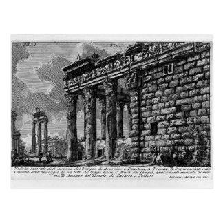 Giovanni Piranesi- Temple of Antonius and Faustina Postcard