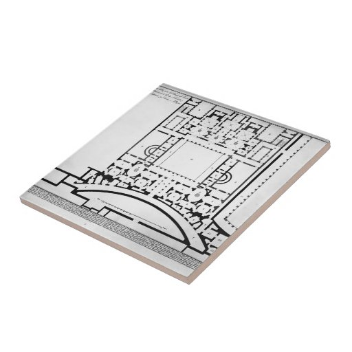 Giovanni Piranesi- The Roman antiquities of horns Small Square Tile