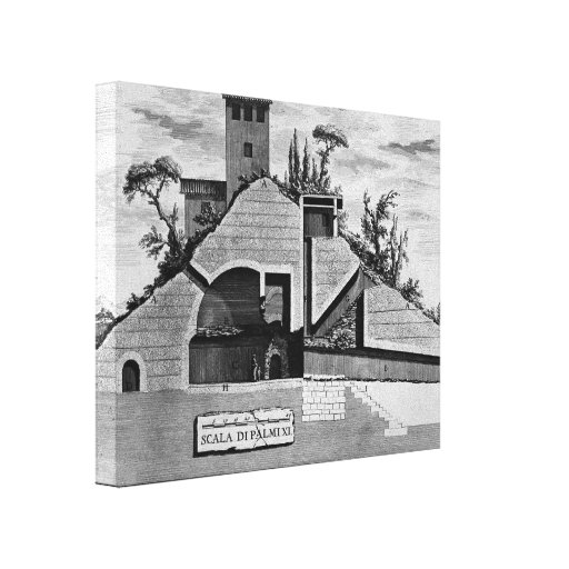 Giovanni Piranesi- The Roman antiquities of tomb Stretched Canvas Print