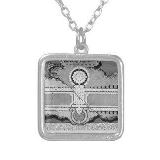 Giovanni Piranesi- Urn of marble in burial chamber Personalized Necklace