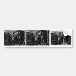Giovanni Piranesi-Veduta with Arch of Titus Bumper Sticker
