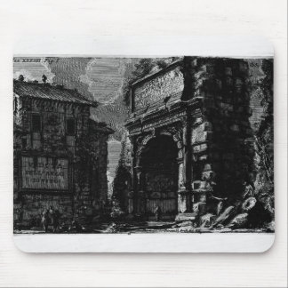 Giovanni Piranesi-Veduta with Arch of Titus Mouse Pad