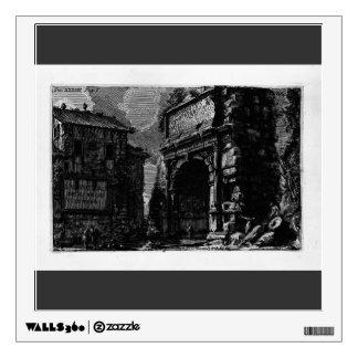 Giovanni Piranesi-Veduta with Arch of Titus Wall Graphic