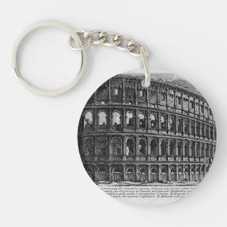 Giovanni Piranesi- View of Flavian Amphitheatre Key Chains