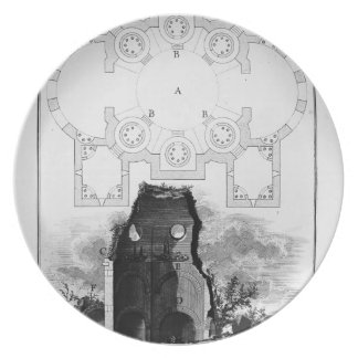 Giovanni Piranesi- View of the Tomb of the Scipios Party Plates