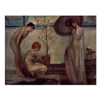 Giovanni Segantini - ángel de la vida Postales