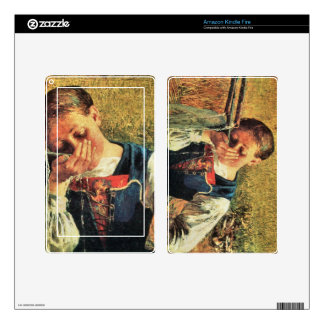 Giovanni Segantini - At the well Decals For Kindle Fire