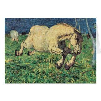 Giovanni Segantini - caballo galopante Tarjeta Pequeña
