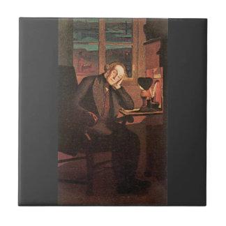 Giovanni Segantini - Carlo Rotta Small Square Tile
