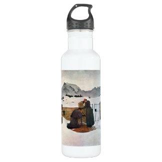 Giovanni Segantini - el dolor del luto Botella De Agua De Acero Inoxidable