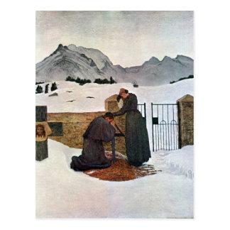 Giovanni Segantini - el dolor del luto Tarjetas Postales