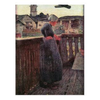 Giovanni Segantini - en el balcón Postales