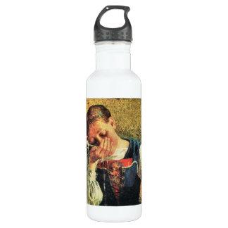Giovanni Segantini - en el pozo Botella De Agua De Acero Inoxidable