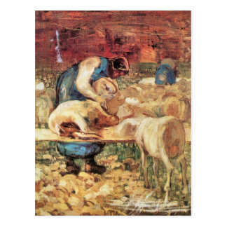 Giovanni Segantini - esquilando Tarjetas Postales