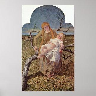 Giovanni Segantini - fruit of love Poster