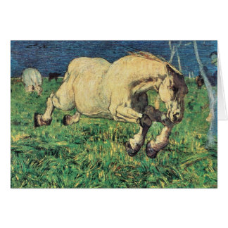 Giovanni Segantini - Galloping horse Card
