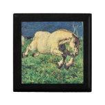 Giovanni Segantini - Galloping horse Keepsake Box