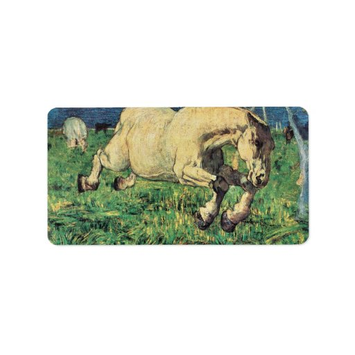 Giovanni Segantini - Galloping horse Custom Address Labels