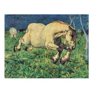 Giovanni Segantini - Galloping horse Postcard