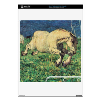 Giovanni Segantini - Galloping horse PS3 Slim Skins