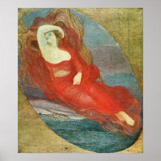 Giovanni Segantini - Goddess of love Poster