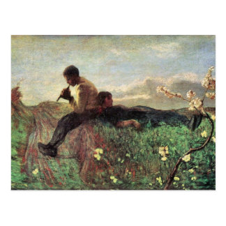 Giovanni Segantini - idilio Tarjeta Postal