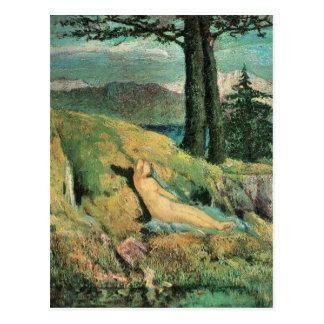 Giovanni Segantini - la fuente Tarjetas Postales