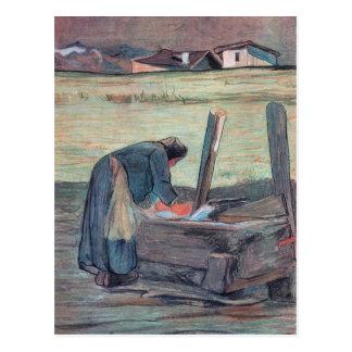 Giovanni Segantini - lavadora Postales
