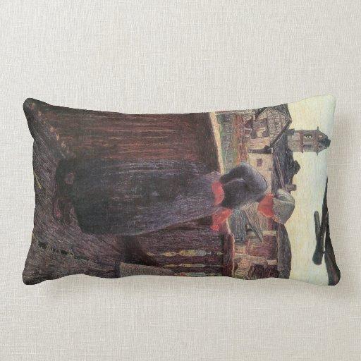 Giovanni Segantini - On the balcony Pillow