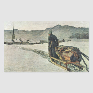Giovanni Segantini - Return from the forest Rectangle Sticker
